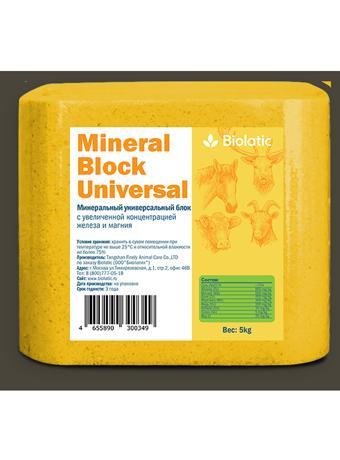 Минеральный солевой блок Biolatic Mineral Block Universal